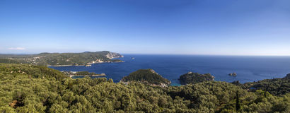 View at Paleokastritsa, Corfu Royalty Free Stock Photography