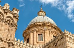 View of Palermo Cathedral church Dome, Sicily, Italy Stock Photography