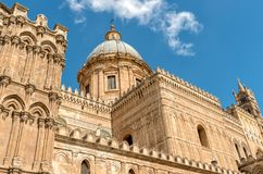 View of Palermo Cathedral church Dome, Sicily, Italy Stock Image