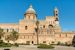 View of Palermo Cathedral church, Sicily, Italy Royalty Free Stock Images