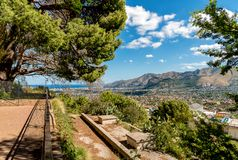 View on Palermo city from Monreale, Sicily royalty free stock image