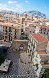 View of Palermo with old houses and monuments royalty free stock photo