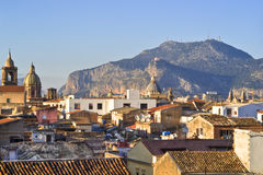 View of Palermo with roofs Royalty Free Stock Image