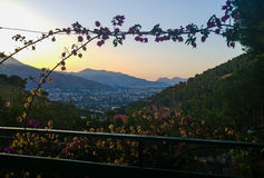 View on Palermo (Sicily, Italy). View from Villagrazia on Palermo Royalty Free Stock Photo