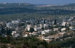 View of a Palestinian village. Royalty Free Stock Images