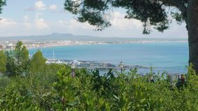 View of Palma de Majorca from Bellver castle on sunny day suitable for travelling. View of Palma de Majorca from Bellver castle on sunny day stock video