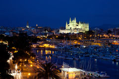 View of Palma de Mallorca with Cathedral Santa Maria Royalty Free Stock Photo