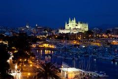 View of Palma de Mallorca with Cathedral Santa Maria Royalty Free Stock Photo