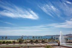View of Palma de Mallorca with sea on horizon Stock Images