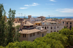 View of Palma de Mallorca. In sunny summer day Royalty Free Stock Image