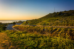 View of Palos Verdes Drive, in Rancho Palos Verdes  Stock Images
