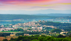 View of Pals area in summer. Catalonia Stock Image