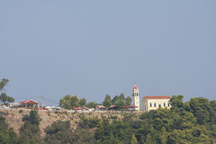 View of Panagia Chrysopigi Church on Zakynthos island Stock Images