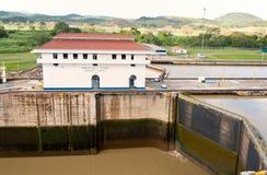 View of the Panama cana, Miraflores locks. Stock Image