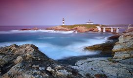 View on Pancha Island at sunset royalty free stock photography