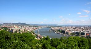 View of panorama Budapest, Hungary Royalty Free Stock Images