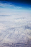 View panorama cloudscape from airplane window Stock Photos
