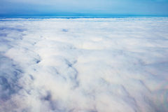 View panorama cloudscape from airplane window Stock Image