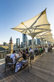 View from the panorama platform to the skyline of Frankfurt Stock Image
