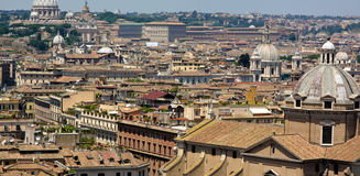 View of panorama Rome Stock Image