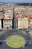 View of panorama Rome, Italy Stock Images