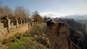 View  panoramic from the Alameda del Tajo-Ronda ANDALUSIA-SPAIN Royalty Free Stock Photography