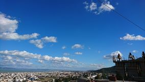 View panoramic of blue sky royalty free stock photography