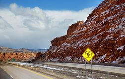 Panoramic view of the red rocks area in northern New Mexico royalty free stock images