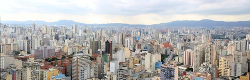 View Panoramic of sao paulo Brazil Royalty Free Stock Images