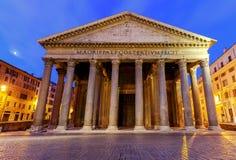 Rome. Pantheon in the night illumination. Royalty Free Stock Photo