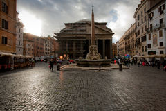 View on Pantheon in Rome Royalty Free Stock Images