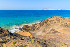 View of Papagayo beach Royalty Free Stock Photos