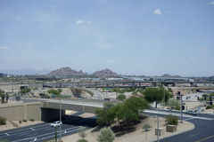 View at Papago Park from Phoenix airport, AZ Royalty Free Stock Photo