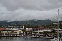 City of Papeete on the Island of Tahiti Royalty Free Stock Image