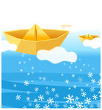 The view of Paper boat Stock Images