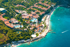 View from parachute on hotel Fethiye, Stock Photos