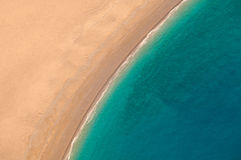 View from parachute on the sandy beach. Stock Images