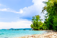 View on paradise coastline by Phu Quoc Island in Vietnam Royalty Free Stock Photos