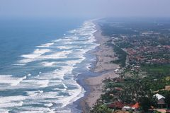 A view of Indonesian parangtritis beach royalty free stock photos