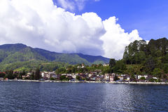 View of Parapat. Stock Photography