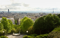 View from the Parc de Belleville Royalty Free Stock Images