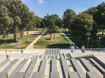 View into Parc de Bercy, Paris, on a sunny summer day Stock Images