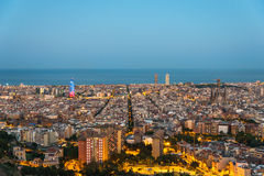 View from the Parc del Guinardó to Barcelona  Stock Photography