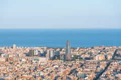 View from the Parc del Guinardó to Barcelona Stock Images