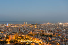 View from the Parc del Guinardó to Barcelona  Stock Image