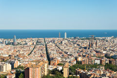 View from the Parc del Guinardó to Barcelona Stock Photos