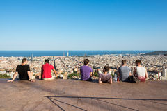 View from the Parc del Guinardo to Barcelona Stock Photography