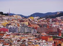 View from Parc Turo in Barcelona Stock Images