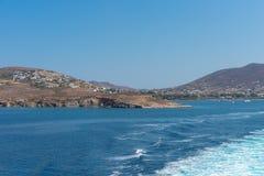 Parikia bay and harbor - Cyclades island - Aegean sea - Paroikia (Parikia) Paros - Greece. View of Parikia bay and harbor - Cyclades island - Aegean sea royalty free stock photography