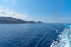Parikia bay and harbor - Cyclades island - Aegean sea - Paroikia (Parikia) Paros - Greece. View of Parikia bay and harbor - Cyclades island - Aegean sea stock images